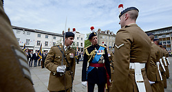 © Licensed to London News Pictures. 06/06/14 .Warwick. HRH Prince Michael of Kent. 2nd Bn Royal Regt of Fusiliers Freedom of the City of Warwick. Today the 2nd Bn Royal Regt of Fusiliers were given Freedom of the City of Warwick. It marked an important day for the Regt as it would be the last time the Regt paraded in public together.. Photo credit : Sgt Russ Nolan/LNP