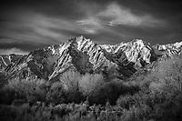 Black and white landscape, Lone Pine Peak, Eastern Sierras, California