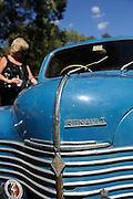 Vintage Renault 4CV automobile. 2011 Classic Car Show, Whiteman Park, Perth, Western Australia. March 20, 2011