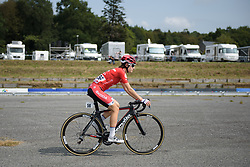 Nicole Hanselmann makes her way to sign in at Grand Prix de Plouay Lorient Agglomération a 121.5 km road race in Plouay, France on August 26, 2017. (Photo by Sean Robinson/Velofocus)
