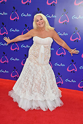 © Licensed to London News Pictures. 25/08/2021. London, UK. VENESSA FELTZ arrives for the gala performance of Andrew Lloyd Webber's Cinderella showing at the Gillian Theatre, Dury Lane. Photo credit: Ray Tang/LNP