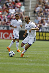 April 29, 2018 - Commerce City, Colorado - Orlando City SC forward Justin Meram (9) looks to control the ball in the first half of action in the MLS soccer game between Orlando City SC and the Colorado Rapids at Dick's Sporting Goods Park in Commerce City, Colorado (Credit Image: © Carl Auer via ZUMA Wire)