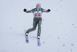 01.01.2021, Olympiaschanze, Garmisch Partenkirchen, GER, FIS Weltcup Skisprung, Vierschanzentournee, Garmisch Partenkirchen, Einzelbewerb, Herren, im Bild Sieger Dawid Kubacki (POL) // Winner Dawid Kubacki of Poland during the men's individual competition for the Four Hills Tournament of FIS Ski Jumping World Cup at the Olympiaschanze in Garmisch Partenkirchen, Germany on 2021/01/01. EXPA Pictures © 2020, PhotoCredit: EXPA/ JFK