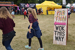Latitude Festival 2017, Henham Park, Suffolk, UK. Pad Thai stall sign