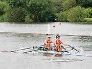 Henley Royal Regatta, Henley on Thames, Oxfordshire, 28 June - 2 July 2017.  Saturday  10:23:17   01/07/2017  [Mandatory Credit/Intersport Images]<br /> <br /> Rowing, Henley Reach, Henley Royal Regatta.<br /> <br /> The Women's Double Sculls<br />  R. de Jong & M. Oldenburg (Hollandia Roeiclub, Netherlands)