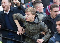 Football - 2016 / 2017 Premier League - West Ham United vs. Middesborough <br /> <br /> Tempers flare as a West Ham fan taunts the away fans at The London Stadium.<br /> <br /> COLORSPORT/DANIEL BEARHAM