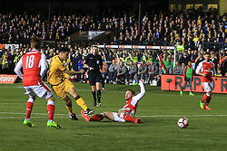 20 February 2017 - The FA Cup - (5th Round) - Sutton United v Arsenal - Maxime Biamou of Sutton United shoots - Photo: Marc Atkins / Offside.