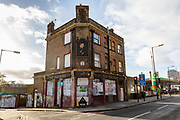 A general view of The Old Rose pub, on the corner of The Highway and Chigwell Hill in Wapping, east London, England on December 20, 2018. The historic public house in Tower Hamlets has been disused and derelict since 2011 but is due to be renovated and redeveloped next year.