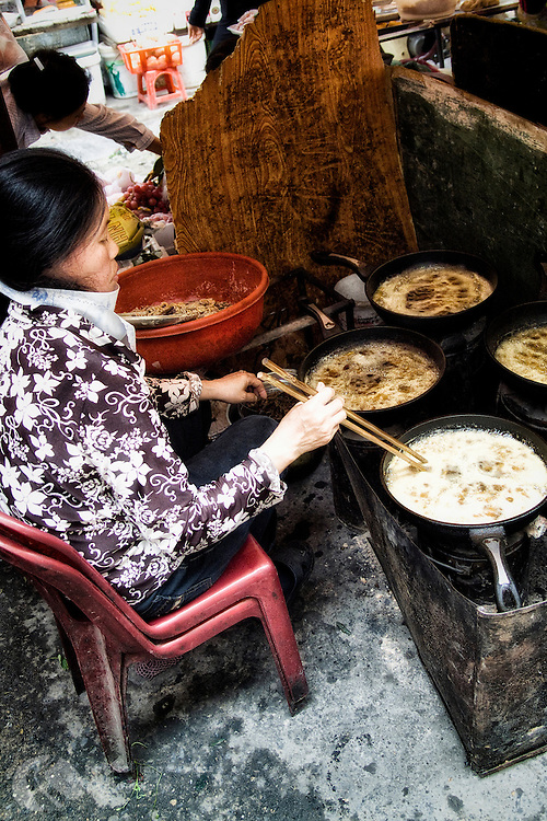 Fresh homemade soup for lunch in downtown Hanoi.