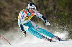 Forerunner Andreas Romar of Finland prior to the 1st Run of 8th Men's Giant Slalom - Pokal Vitranc 2012 of FIS Alpine Ski World Cup 2011/2012, on March 10, 2012 in Vitranc, Kranjska Gora, Slovenia.  (Photo By Vid Ponikvar / Sportida.com)