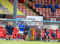 31JUL21 Partick Thistle's manager Ian McCall and Queen of the South's Manager Allan Johnston in the stand. Partick Thistle 3 v 2 Queen of the South. First Scottish Championship game of the season.