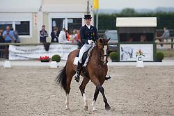Roos Laurence (BEL) - Ambaro Saturnus<br /> BK Young Riders<br /> Flanders Dressage Event Hulsterlo 2012<br /> © Dirk Caremans
