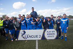 Winners Montrose. <br /> Montrose 3 v 1 Brora Rangers, Scottish League Two play-off second leg, today at Links Park, Montrose.