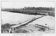 the Big Black River Pontoon Bridge from the book ' The Civil war through the camera ' hundreds of vivid photographs actually taken in Civil war times, sixteen reproductions in color of famous war paintings. The new text history by Henry W. Elson. A. complete illustrated history of the Civil war