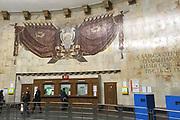 Moskou is de hoofdstad en met afstand de grootste stad van Rusland, voorheen van de Sovjet-Unie./// Moscow is the capital and by far the largest city of Russia, formerly the Soviet Union.<br /> <br /> Op de foto: <br />  Metro / Subway