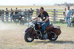Arena games for cowboys and bikers at the Spur Creek Ranch for the annual Lichter/Sugar Bear Ride during the 75th Annual Sturgis Black Hills Motorcycle Rally.  SD, USA.  August 5, 2015.  Photography ©2015 Michael Lichter.