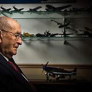 Portrait and details shots of Alden Rigby, WWII flying ACE for Wings of Valor taken at his home in Bountiful, Utah Saturday Nov. 22, 2014. (Photo by August Miller)