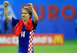 Luka Modric of Croatia after the UEFA EURO 2008 Group B soccer match between Austria and Croatia at Ernst-Happel Stadium, on June 8,2008, in Vienna, Austria.  (Photo by Vid Ponikvar / Sportal Images)