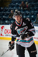 KELOWNA, CANADA - OCTOBER 23: Rodney Southam #17 of Kelowna Rockets warms up against the Prince George Cougars on October 23, 2015 at Prospera Place in Kelowna, British Columbia, Canada.  (Photo by Marissa Baecker/Shoot the Breeze)  *** Local Caption *** Rodney Southam;