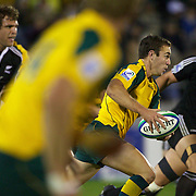 Nicholas White, Australia, in action during the Australia V New Zealand Final match at the IRB Junior World Championships in Argentina. New Zealand won the match 62-17 at Estadio El Coloso del Parque, Rosario, Argentina,. 21st June 2010. Photo Tim Clayton...