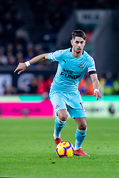 February 11, 2019 - Wolverhampton, England, United Kingdom - Ayoze Perez of Newcastle United during the Premier League match between Wolverhampton Wanderers and Newcastle United at Molineux, Wolverhampton on Monday 11th February 2019. (Credit Image: © Mi News/NurPhoto via ZUMA Press)