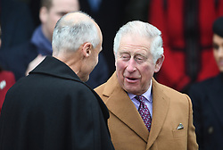 The Prince of Wales arriving to attend the Christmas Day morning church service at St Mary Magdalene Church in Sandringham, Norfolk.
