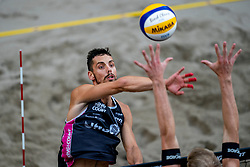 Bartosz Losiak POL in action during the second day of the beach volleyball event King of the Court at Jaarbeursplein on September 10, 2020 in Utrecht.