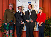The winners of the 2015 Scottish Border Business Award for Micro Business of the Year for Environmental Innovation:Jim Shanks of JG Shanks & Son, Standhill Farm, Hawick.<br /> Sponsored by Federation of Small Businesses.<br /> <br /> The 2015 Scottish Border Business Awards, held at Springwood Hall, Kelso. The awards were run by the Scottish Borders Chambers of Commerce, with guest speaker Keith Brown, MSP. The SBCC chairman Jack Clark and the presenter Fiona Armstrong co hosted the event.