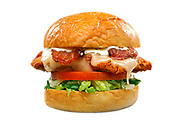 SHOT 3/13/19 10:44:59 AM - Birdcall menu items including  The Deluxe Chicken Sandwich : crispy chicken, buttermilk herb mayo, bacon, pepper-jack cheese, tomato slices, shredded lettuce $8.50. Birdcall is a community driven neighborhood eatery featuring a variety of chicken sandwiches and salads as well as sides. Locally sourced ingredients, a commitment to sustainability and a love of neighborhood art all play a vital role in the concept. (Photo by Marc Piscotty / © 2019)