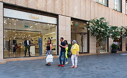 Luxury fashion boutiques on fashionable street in Downtown Beirut, Lebanon