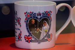 Already on sale, postcards, mugs and fridge magnets already bear the iconic picture taken less than 24 hours before on the day following the wedding of Prince Harry to Meghan Markle in Windsor, Berkshire. WINDSOR, May 20 2018.