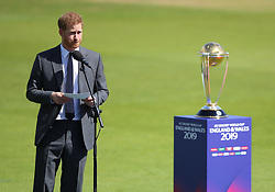 The Duke of Sussex during the opening match of the ICC Cricket World Cup at The Oval in London.