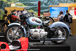 Universal (brand) Motorcycle from Deerrieden, Switzerland in a display dedicated to a past golden age of Swiss manufactured motorcycles at the Swiss-Moto Customizing and Tuning Show. Zurich, Switzerland. Saturday, February 23, 2019. Photography ©2019 Michael Lichter.