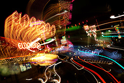 """""""Downtown Reno 4"""" - These signs were photographed in Downtown Reno, Nevada. The effect was obtained in camera by long exposure mixed with intentional camera movement."""