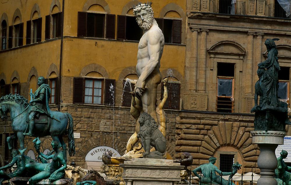 Statues at Piazza della Signoria in Florence.