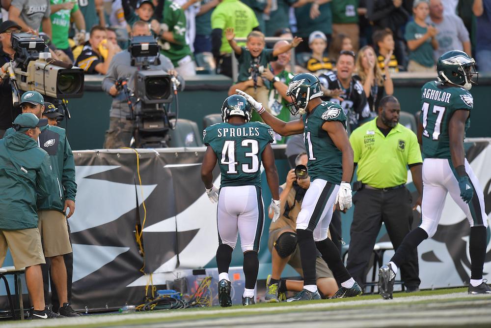 The Philadelphia Eagles beats the Pittsburgh Steelers 34-3 at Lincoln Financial Field on September 25, 2016 in Philadelphia, Pennsylvania.  (Photo by Drew Hallowell/Philadelphia Eagles)