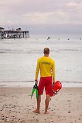Lifeguard Working the Beach at the San Clemente Ocean Festival