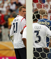 Photo: Chris Ratcliffe.<br /> England v Trinidad & Tobago. Group B, FIFA World Cup 2006. 15/06/2006.<br /> Peter Crouch.