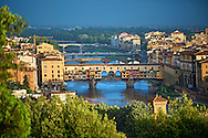 Panoramic view of Florence and the Ponte Vecchio, Italy .<br /> <br /> Visit our ITALY PHOTO COLLECTION for more   photos of Italy to download or buy as prints https://funkystock.photoshelter.com/gallery-collection/2b-Pictures-Images-of-Italy-Photos-of-Italian-Historic-Landmark-Sites/C0000qxA2zGFjd_k<br /> .<br /> <br /> Visit our MEDIEVAL PHOTO COLLECTIONS for more   photos  to download or buy as prints https://funkystock.photoshelter.com/gallery-collection/Medieval-Middle-Ages-Historic-Places-Arcaeological-Sites-Pictures-Images-of/C0000B5ZA54_WD0s