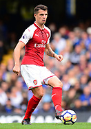 Granit Xhaka of Arsenal in action. Premier league match, Chelsea v Arsenal at Stamford Bridge in London on Sunday 17th September 2017.<br /> pic by Andrew Orchard sports photography.