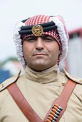Major Samer Al Ajarmeh. The Jordian calvary at their stables in Tower Farm, Liberton, Edinburgh
