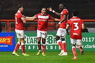 Goal - Niclas Eliasson (19) of Bristol City celebrates scoring a goal to make the score 2-1 during the The FA Cup fourth round match between Bristol City and Bolton Wanderers at Ashton Gate, Bristol, England on 25 January 2019.