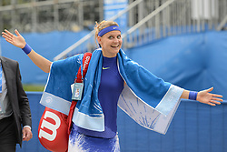 June 21, 2017 - Birmingham, England - LUCIE SAFAROVA of the Czech Republic poses for a photo after winning her second round match v. N. Osaka in the Aegon Classic Birmingham tennis tournament. (Credit Image: © Christopher Levy via ZUMA Wire)