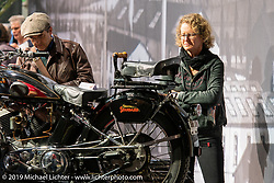 A Swiss manufactured 1934 850cc Standard Motorcycle on display in the Display of antique Swiss manufactured motorcycles in the Swiss-Moto Customizing and Tuning Show. Zurich, Switzerland. Friday, February 22, 2019. Photography ©2019 Michael Lichter.