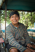 Portrait of driver of Horse drawn cart, Kedu Valley, South Central Java, Java, Indonesia, Southeast Asia