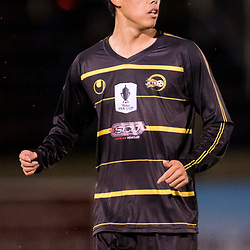 BRISBANE, AUSTRALIA - AUGUST 26: Donggyu Lee of Moreton Bay looks on during the NPL Queensland Senior Men's Semi Final match between Brisbane Strikers and Moreton Bay Jets at Perry Park on August 26, 2017 in Brisbane, Australia. (Photo by Patrick Kearney)