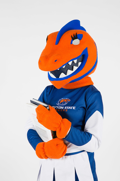 Portraits of Clayton State University mascots Loch and Nessy on Wenesday, June 29, 2016 in Morrow, Ga. Photo by Kevin D. Liles / kevindliles.com
