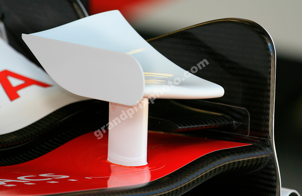 The new Toyota front wing before practice for the 2006 Turkish Grand Prix in Istanbul Park. Photo: Grand Prix Photo