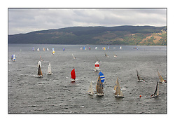 Day 2 of the Bell Lawrie Scottish Series with wild conditions on Loch Fyne for all fleets. Exhilarating and testing racing for Boats and crew...Class 2 fleet rounding Leeward mark.