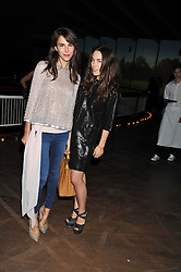 Left to right, CAROLINE SIEBER and TALLULAH HARLECH at a dinner hosted by Calvin Klein Collection to celebrate the future Home of The Design Museum at The Commonwealth Institute, Kensington, London on 13th October 2011.